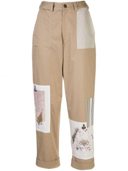 Укороченные брюки с воротником с карманами с отворотом пэчворк Monse