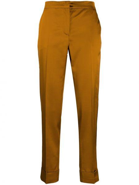 Брюки с завышенной талией горчичный брюки-хулиганы Pt01
