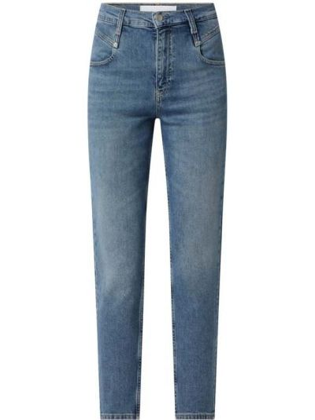 Niebieskie mom jeans bawełniane Calvin Klein Jeans