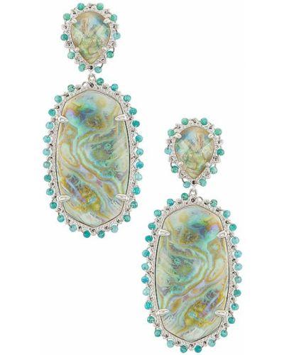Niebieskie kolczyki sztyfty srebrne Kendra Scott