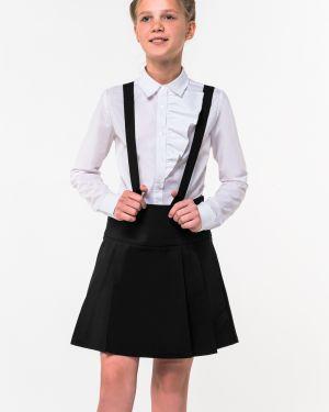 Школьная черная юбка на бретелях Orby