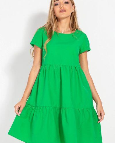 Платье весеннее зеленый Bessa