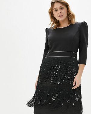 Повседневное платье осеннее черное Kitana By Rinascimento