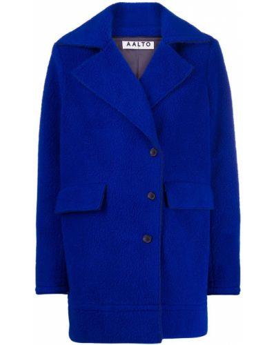 Синее пальто с воротником Aalto