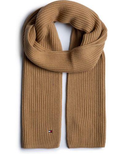 Brązowy szalik bawełniany Tommy Hilfiger