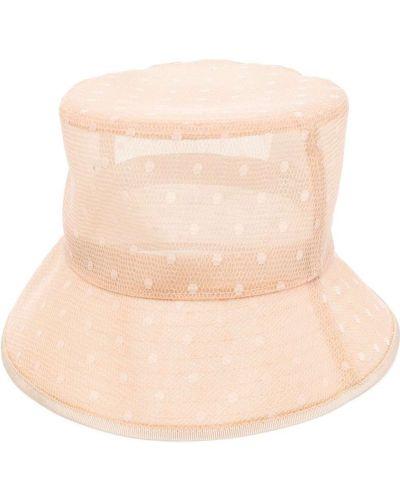 Beżowy kapelusz bawełniany z siateczką Red Valentino