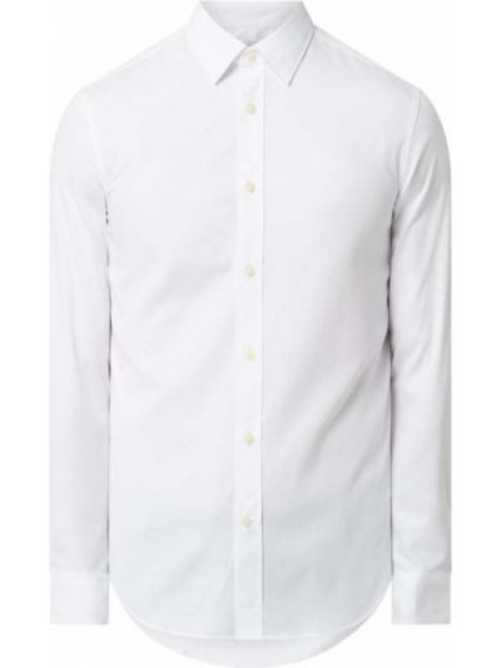 Biała koszula bawełniana z długimi rękawami Tiger Of Sweden
