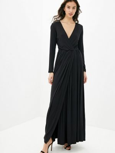 Вечернее платье весеннее черное Numinou