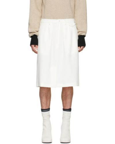 Beżowy spódniczki-szorty z kieszeniami z paskami Random Identities
