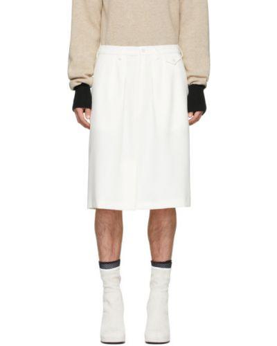 Белая юбка-шорты с карманами с аппликациями Random Identities
