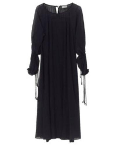 Czarna sukienka bawełniana By Malene Birger
