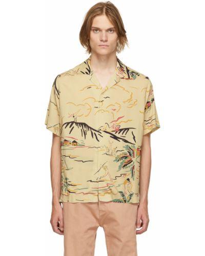 Beżowa koszula z wiskozy Carne Bollente