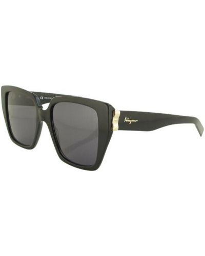 Czarne okulary Salvatore Ferragamo