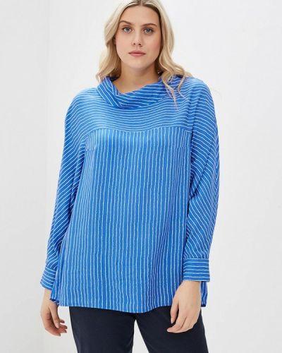 Блузка синяя весенний авантюра Plus Size Fashion