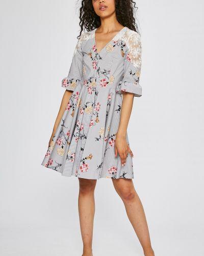 Платье мини с запахом расклешенное Silvian Heach