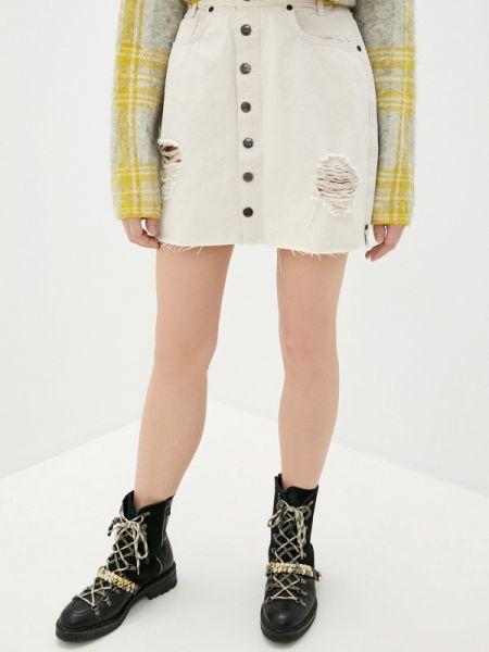 Джинсовая юбка весенняя бежевый One Teaspoon