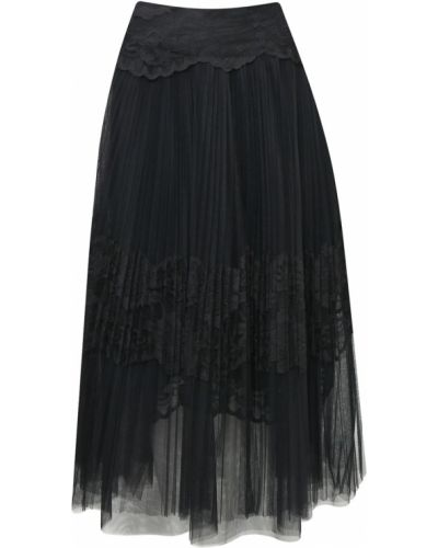 Плиссированная юбка миди с завышенной талией Ermanno Scervino