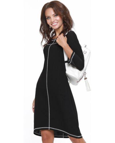 Свободное с рукавами трикотажное спортивное платье Dstrend