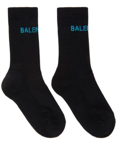Czarny bawełna bawełna wysoki skarpety rozciągać Balenciaga