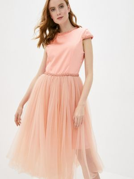 Вечернее платье розовое на тонких бретелях Nothing But Love