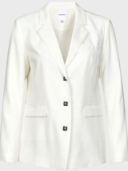 Белый пиджак на пуговицах с подкладкой Silvian Heach