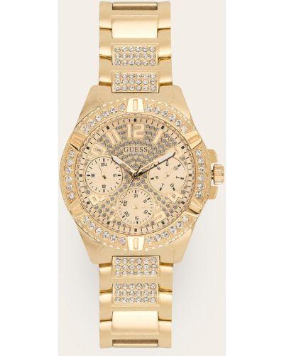 Złoty zegarek kwarcowy Guess