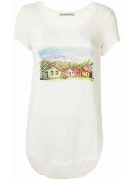С рукавами футболка из вискозы с вырезом Martha Medeiros