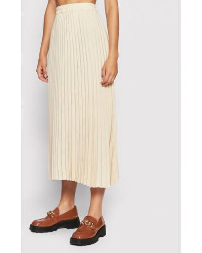 Spódnica plisowana - beżowa Selected Femme