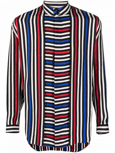 Koszula w paski w paski - czarna Saint Laurent