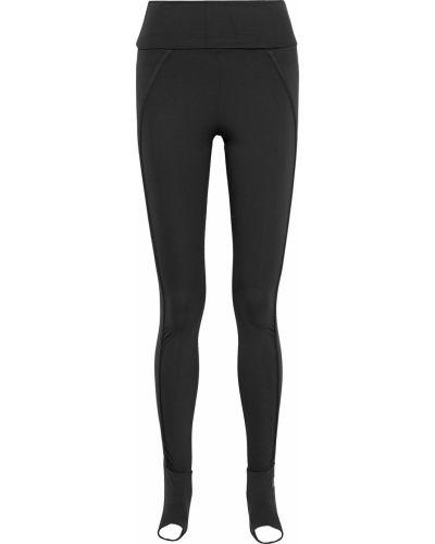 Черные текстильные леггинсы на шпильке Adidas By Stella Mccartney