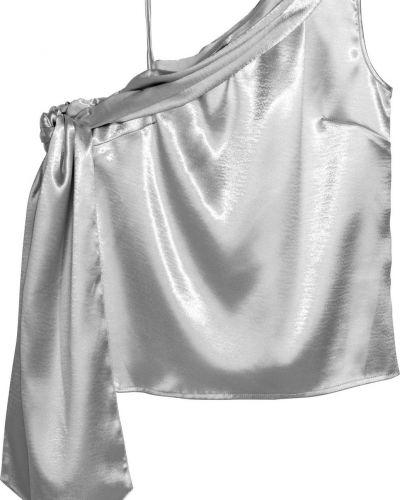 Серебряная блузка H&m