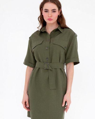 Прямое зеленое платье Gregory