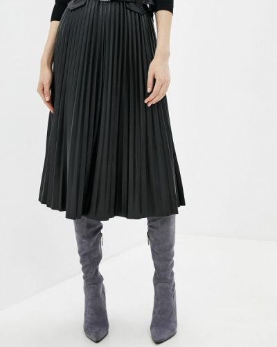 Кожаная юбка черная River Island