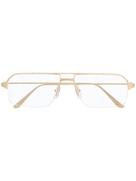 Złote okulary Cartier