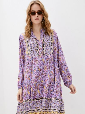 Фиолетовое платье-рубашка Tantra