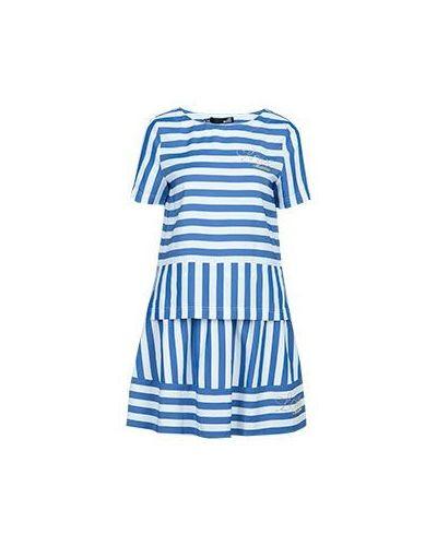 Голубое платье из вискозы Moschino Love