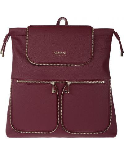Рюкзак бордовый красный Armani Jeans