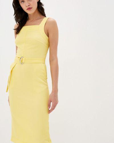 Платье футляр желтый Annborg