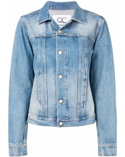 Синяя джинсовая куртка с вышивкой на пуговицах Quantum Courage
