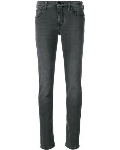 Черные джинсы-скинни с низкой посадкой на пуговицах с пайетками Jacob Cohen