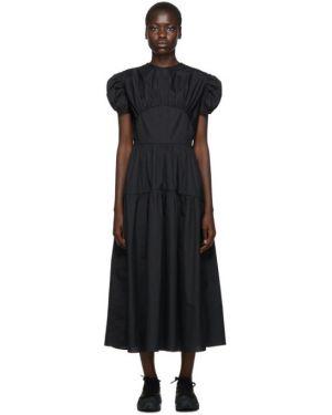 Платье из поплина с отложным воротником Cecilie Bahnsen