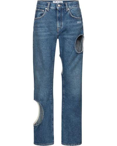 Bawełna biały bawełna jeansy chłopaki Off-white