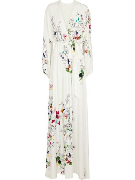 Платье макси - белое Monique Lhuillier