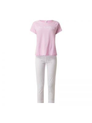 Różowa spodni piżama bawełniana krótki rękaw Louis & Louisa