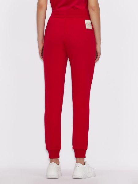 Красные с завышенной талией спортивные брюки с карманами Armani Exchange