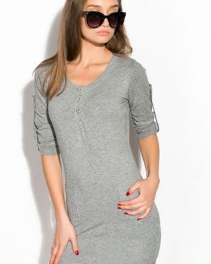 Повседневное платье с поясом приталенное Time Of Style