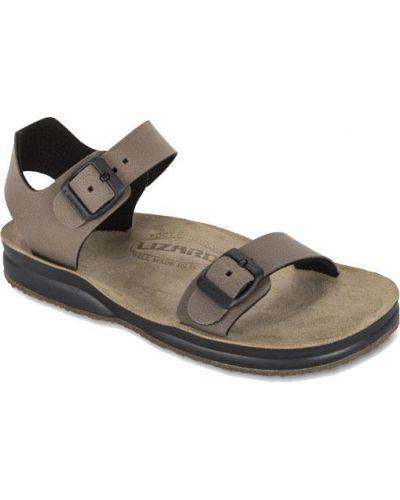 Коричневые сандалии Lizard