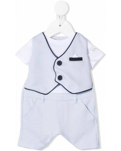 Niebieski garnitur krótki rękaw bawełniany Boss Kidswear