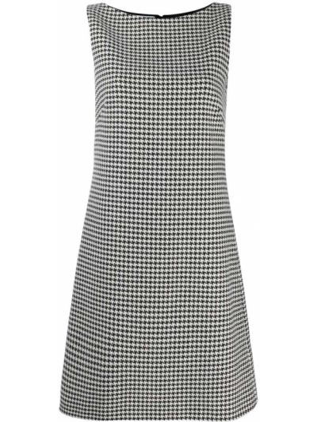 Кашемировое черное платье без рукавов с вырезом Prada Pre-owned