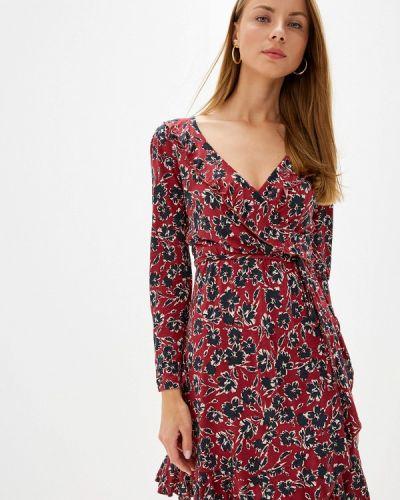 Платье бордовый с запахом French Connection